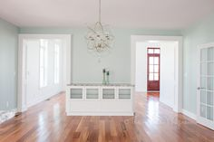 Southern Living Eastover Cottage - Dining Room, SW Copen Blue #koa #coastal