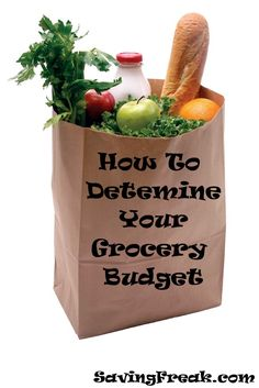 How to Determine your Grocery Budget
