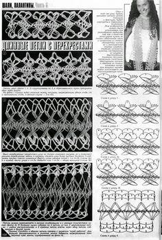 TRICO y CROCHET-madona-mía: Horquilla motivos de encajes como tejerlos…