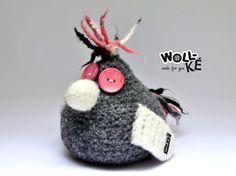 Türstopper Buchstütze Vogel von Woll-KE auf DaWanda.com