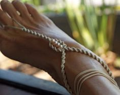 Items similar to Hemera Barefoot Sandals Pearl Sandals Beach Wedding Jewelry Foot Thong Foot Jewelry Wedding Shoes Bridesmaids Gift Pearl Jewelry Anklet on Etsy