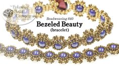 "This video tutorial from Potomac Bead Company designer Allie Buchman teaches you how to make here ""bezeled beauty"" bracelet design. Find a complete list of s..."
