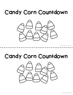 Printable Candy Corn Template from PrintableTreats.com