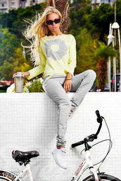 Gepur | Серо/белый спортивынй костюм арт. 12409 Цена от производителя, достоверные описание, отзывы, фото , цвет: , цвет: серый меланж/белый