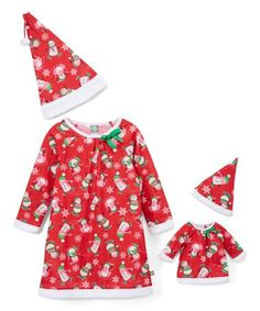 Dollie & Me Red & White Penguin Nightgown Set & Doll Outfit - Girls Girl Outfits, Fashion Outfits, Matching Pajamas, Girls 4, Night Gown, Pajama Set, My Girl, Doll Clothes, Red And White