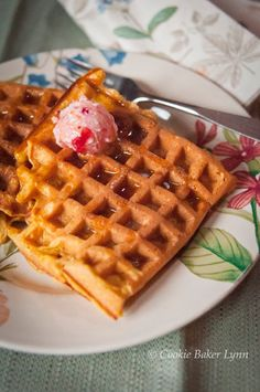 Pumpkin Pecan Waffles with Maple-Cranberry Butter. Does it get any better than this?
