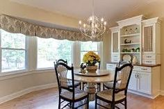 red-kitchen-curtains-and-valances-Dining-Room-Farmhouse-with ...