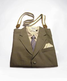 Upcycled Suit Tote Bag