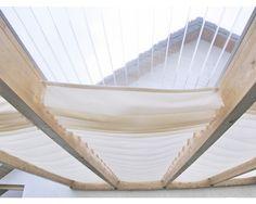 Seilspann-Sonnensegel elfenbein 220x96 cm bei HORNBACH kaufen Store Veranda, Retractable Shade, Pergola Designs, Pool Designs, Pergola Shade, Outdoor Furniture, Outdoor Decor, Living Spaces, New Homes