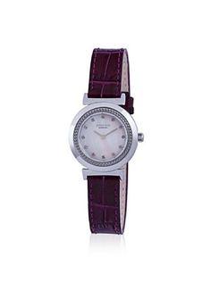 Johan Eric Women's JE1200-04-001 Djursland Purple/MOP Leather Watch