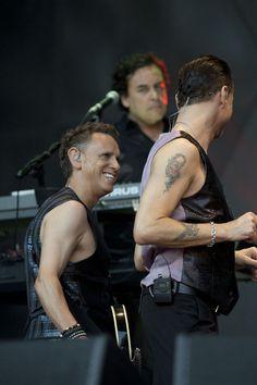 Martin Gore + Dave Gahan @ Delta Machine Tour.  Photo byGreg Rybczynski