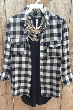 Black And White Flannel - Love Threads