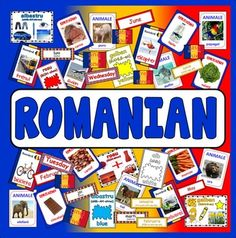 40 food flashcards showing a picture of the food with the word in Romanian. Months of the year flashcards – 1 set of months in Romanian and another set of English. Number in English and Romanian on large flags. Food Flashcards, Science Tutor, English Day, Romanian Language, Months In A Year, Food Coloring, Color Names, Computer Science, Teaching Resources