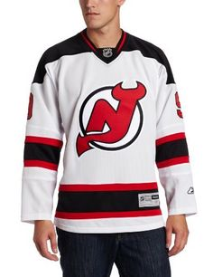 NHL Men's New Jersey Devils #9 Zach Parise Reebok Edge Premier Player Jersey (White, XX-Large) by Reebok. $150.00. This officially licensed Reebok® Premier jersey is made with a polyester pique 2-way stretch mesh body, solid mesh inserts for ventilation and a polyester interlock rib knit collar with the NHL® Shield patch sewn at the point. The highly detailed, full-color team crest is embroidered on the front, and the screen-printed twill appliqué player name and nu...