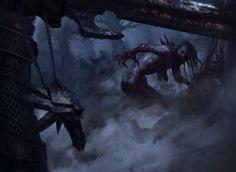 The Witcher 3: Wild Hunt Monsters Geralt of Rivia geralt Butcher of Blaviken White Wolf  Spiele Fantasy