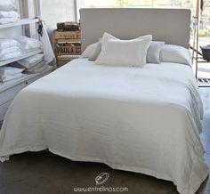 Cubrecama de lino www.entrelinos.com