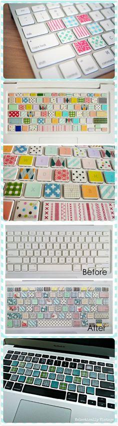 Washi Tape Keyboard, I like the first pic!