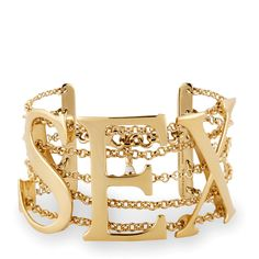 Sex Bracelet Gold ($295) ❤ liked on Polyvore featuring jewelry, bracelets, gold jewelry, gold jewellery, gold bangles, yellow gold bangle and yellow gold jewelry