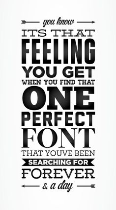 The never ending search for the perfect font. bennyberlin