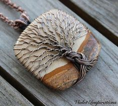 Tree of Life Necklace / Picture Jasper / Wire Wrapped Jewelry -. - Tree of Life Necklace / Picture Jasper / Wire Wrapped Jewelry – Tree of Life Ne - Bijoux Wire Wrap, Wire Wrapped Necklace, Wire Wrapped Pendant, Wire Pendant, Tree Of Life Jewelry, Tree Of Life Necklace, Homemade Jewelry, Diy Jewelry Making, Copper Jewelry