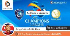 Prognóstico do #3 Top Tipster AG para a #AFCChampionsLeague  http://www.apostaganha.pt/2015/08/23/prognostico-apostas-al-hilal-vs-lekhwiya-afc-champions-league/    Concordas com a pick do RicSilva?  #apostas #futebol #desporto #AFC #apostasesportivas #apuestas #bets #sportsbetting