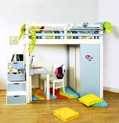 loft bed with mini storage