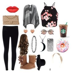 """""""~ugg season <3"""" by ariell03 ❤ liked on Polyvore featuring Miss Selfridge, Chanel, UGG Australia, Ted Baker, Carolina Glamour Collection, Topshop, Aéropostale, Linda Farrow, Wet Seal and Iscream"""