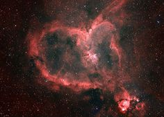 Links to hearts found in nature, this one is the heart nebula <3 :)