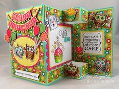 The Rubber Cafe Design Team Blog: Birthday Tri-Fold Card