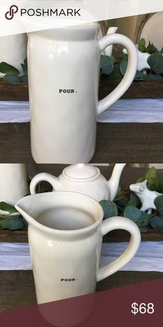 Rae Dunn Pour The Rae Dunn Pour Pitcher will help complete your collection. We will ship it with Bubble Wrap and care. Rae Dunn Other