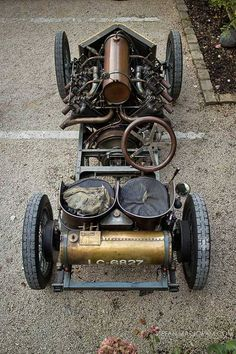 Steampunk car.