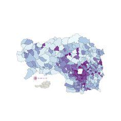 Pendler Quote in der Steiermark: Die interaktive Similio Pendler Quote Karte zeigt die Pendler Quote im Bundesland Steiermark an. Detaillierte Ansichten befinden sich im Bereich Landkarten:Bezirke und Landkarten:Landschaften mit Pendler Quote der untergeordneten Bezirke und Landschaften.
