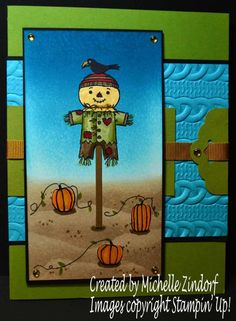 Not So Scary Scarecrow Stampin' Up! Card created by Michelle Zindorf - Spooky Fun, Cookie Cutter Halloween