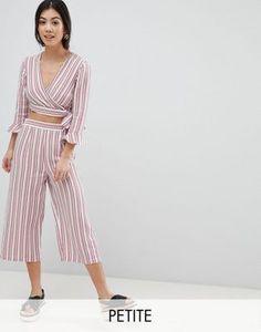 0c471fb928e33 Miss Selfridge Petite Stripe Culotte Cropped Trousers