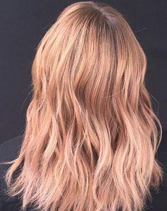 Rose Gold/Strawberry Blonde Balayage #rosegoldhair