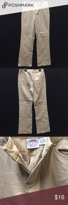 NWNT Tan  Size 6 Carolina Blues Stretch Jeans. New never worn. Tan with Button Fastening. 97% Cotton And 3% Spandex. 30in Waist and 30in Long. Carolina Blues Stretch Bottoms Jeans