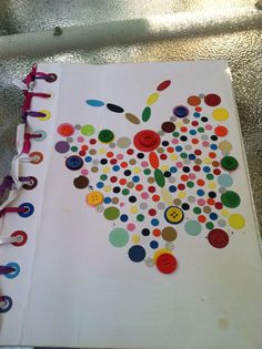 Butterfly  book  notes  make  with  small circle papers
