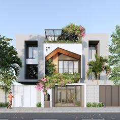 Kerala House Design, Small House Design, Small Houses, Tiny House, Best Home Design Software, Bungalow Designs, Asian Paints, Kerala Houses, Exterior Design
