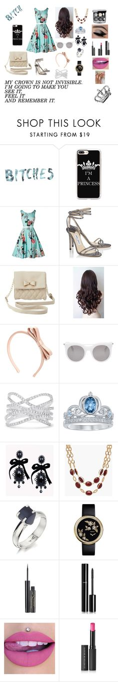 """""""Stereotype 11"""" by ajkr1234 ❤ liked on Polyvore featuring Casetify, Jimmy Choo, Charlotte Russe, RED Valentino, Alexander McQueen, Effy Jewelry, Disney, Dsquared2, Talbots and Humör"""