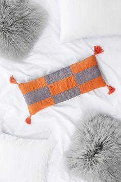 Modern boho patchwork pillow DIY