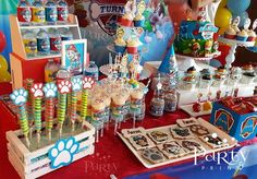 Party Print's Birthday / Paw Patrol - Photo Gallery at Catch My Party Paw Patrol Party Decorations, Paw Patrol Birthday Theme, 3rd Birthday Parties, 2nd Birthday, Birthday Photo Booths, Party Ideas, Mermaid Parties, Paw Patrol Decorations, Ideas Aniversario