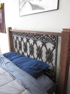 This guy makes wood and wrought iron beds made from reclaimed pieces ...