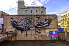 Street Artist Phlegm Paints Massive Surreal Mural in New Zealand (9 pictures)