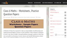 Class 6 Maths Worksheets Practice Question Papers Class 6 Maths, Class 8, Worksheets For Class 1, Math Worksheets, Model Question Paper, Revision Notes, Math Questions, Sample Paper, Math Practices