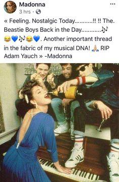 Adam Yauch, Boys Day, Madonna, Dna, Musicals, Scrapbook, Baseball Cards, Feelings, Fabric