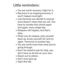 image discovered by Denise. Discover (and save!) your own images and videos on We Heart It Relapse Quotes, Recovery Quotes, Daddy's Little Girl Quotes, Little Things Quotes, Baby Girl Quotes, Cutting Quotes, Recovering From Depression, Prayer For Anxiety, Quotes