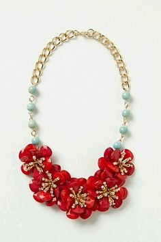 Camellia Bib Necklace $68.00 anthropology