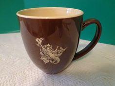 Starbucks Coffee Cup Mug Large Brown Tan Mermaid