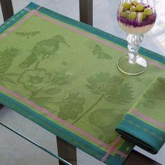 Set Histoire naturelle Mousse 54x38 100% coton