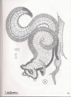Lace Express 1999-03 - Helena Strzępa - Веб-альбомы Picasa Bobbin Lace Patterns, Bead Loom Patterns, Hairpin Lace Crochet, Crochet Edgings, Crochet Motif, Crochet Shawl, Bobbin Lacemaking, Lace Earrings, Point Lace